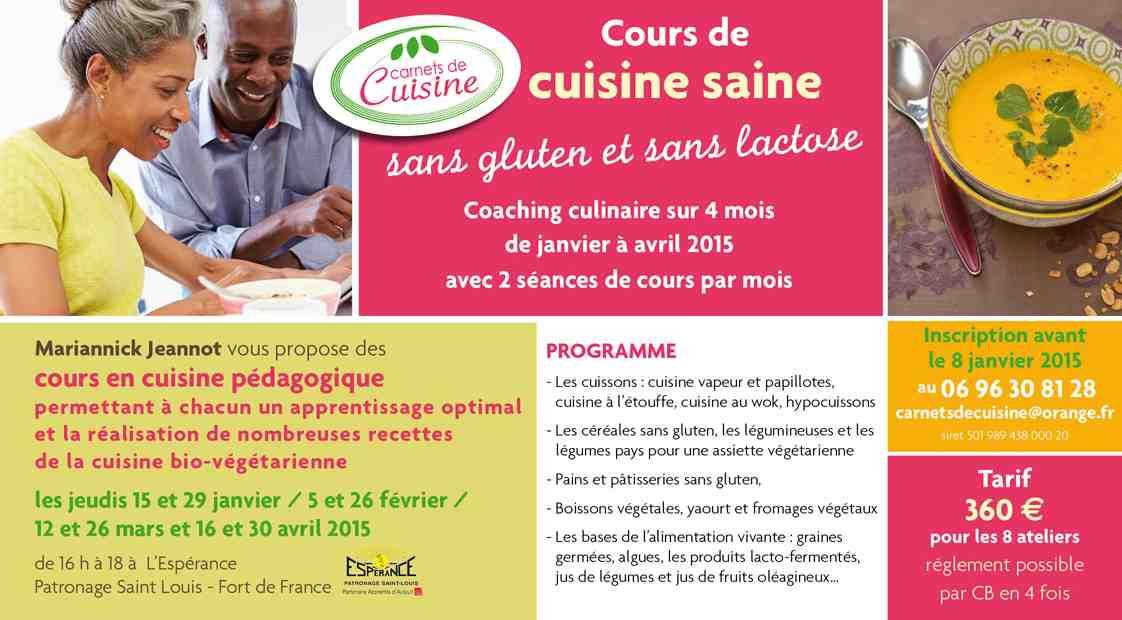 Cours de cuisine saine avec carnets de cuisine - Cours de cuisine par internet ...