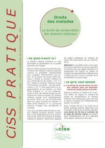 Duree conservation dossiers medicaux-fiche-CISS (1)