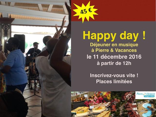 Déjeuner en musique, Happy day le 11 décembre