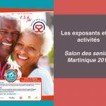 Exposants et activités au salon des seniors à la Martinique