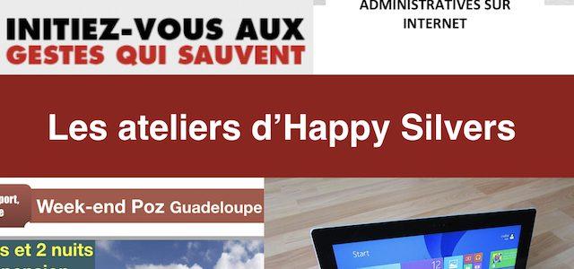 Les ateliers d'Happy Silvers : inscrivez-vous !