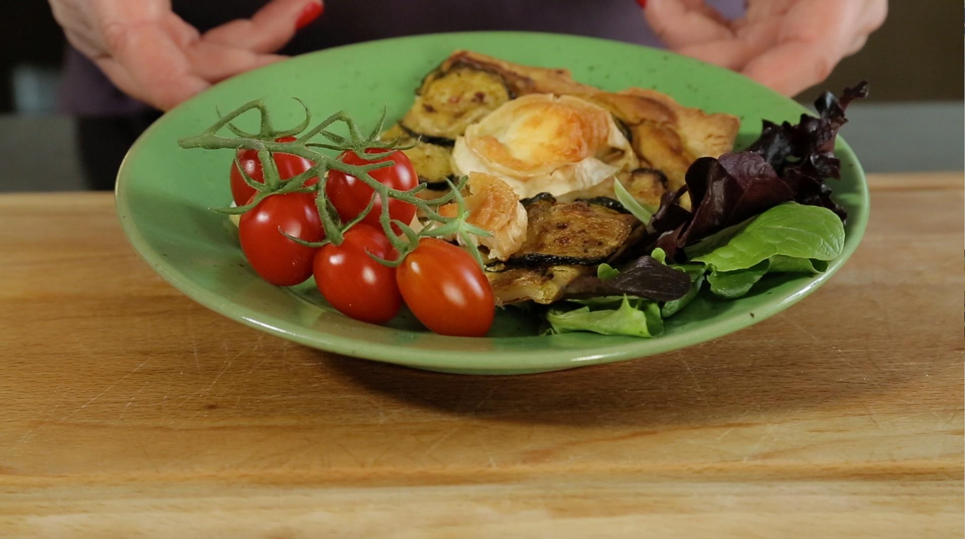 Tarte salée aux courgettes et au chèvre sans gluten