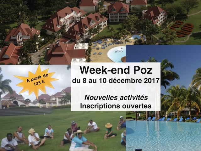 Week-end Poz du 8 au 10 décembre 2017