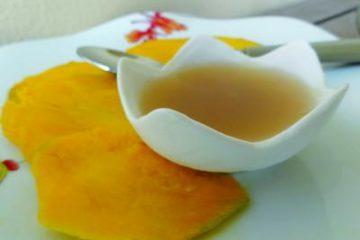 Carpaccio de mangues et sa gelée de gingembre by Carnets de cuisine