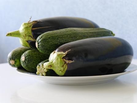 courgette aubergine