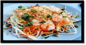 La salade de papaye verte aux crevettes