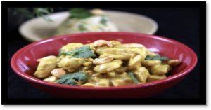 Le poulet au curry et lait de coco