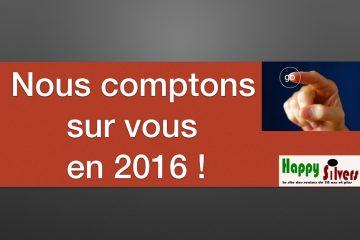 Objectifs 2016 : on compte sur VOUS !