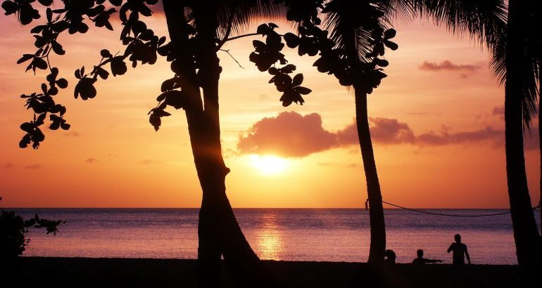 Guadeloupe sunset 1