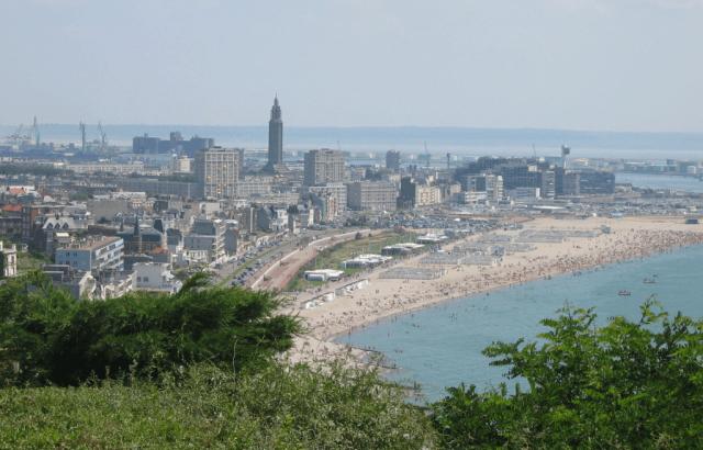 le havre vue plage