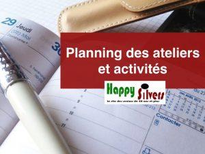 planning ateliers et activites