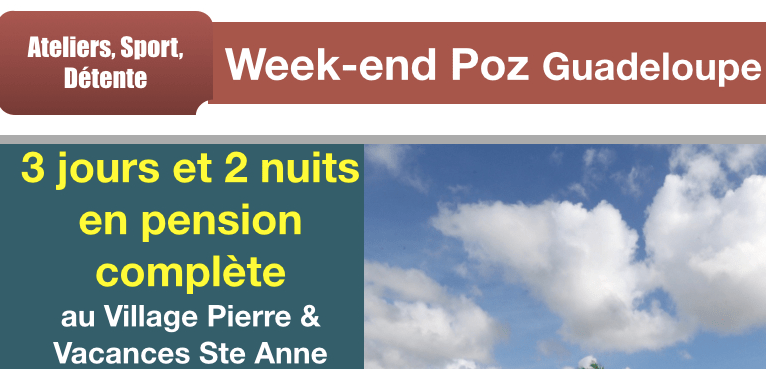 week end Poz Guadeloupe