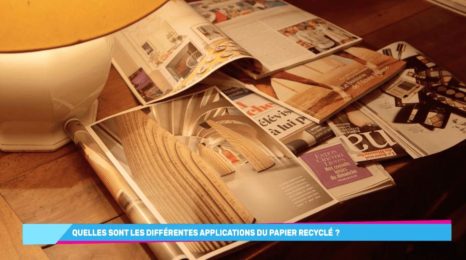 recyclage papier produits