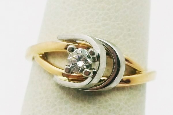 bague 2 or diamant