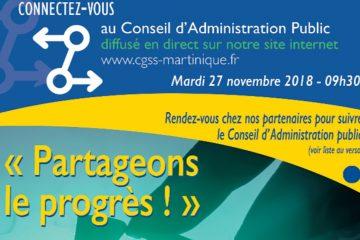 Conseil d'administration public de la CGSS Martinique le 27 novembre