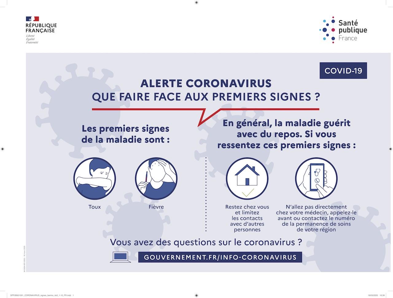 Signes benins coronavirus