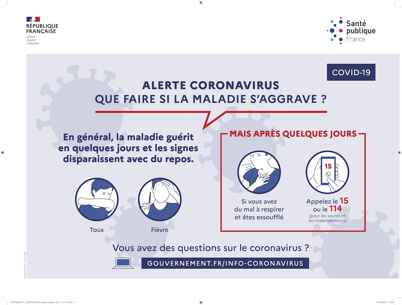 Signes graves coronavirus
