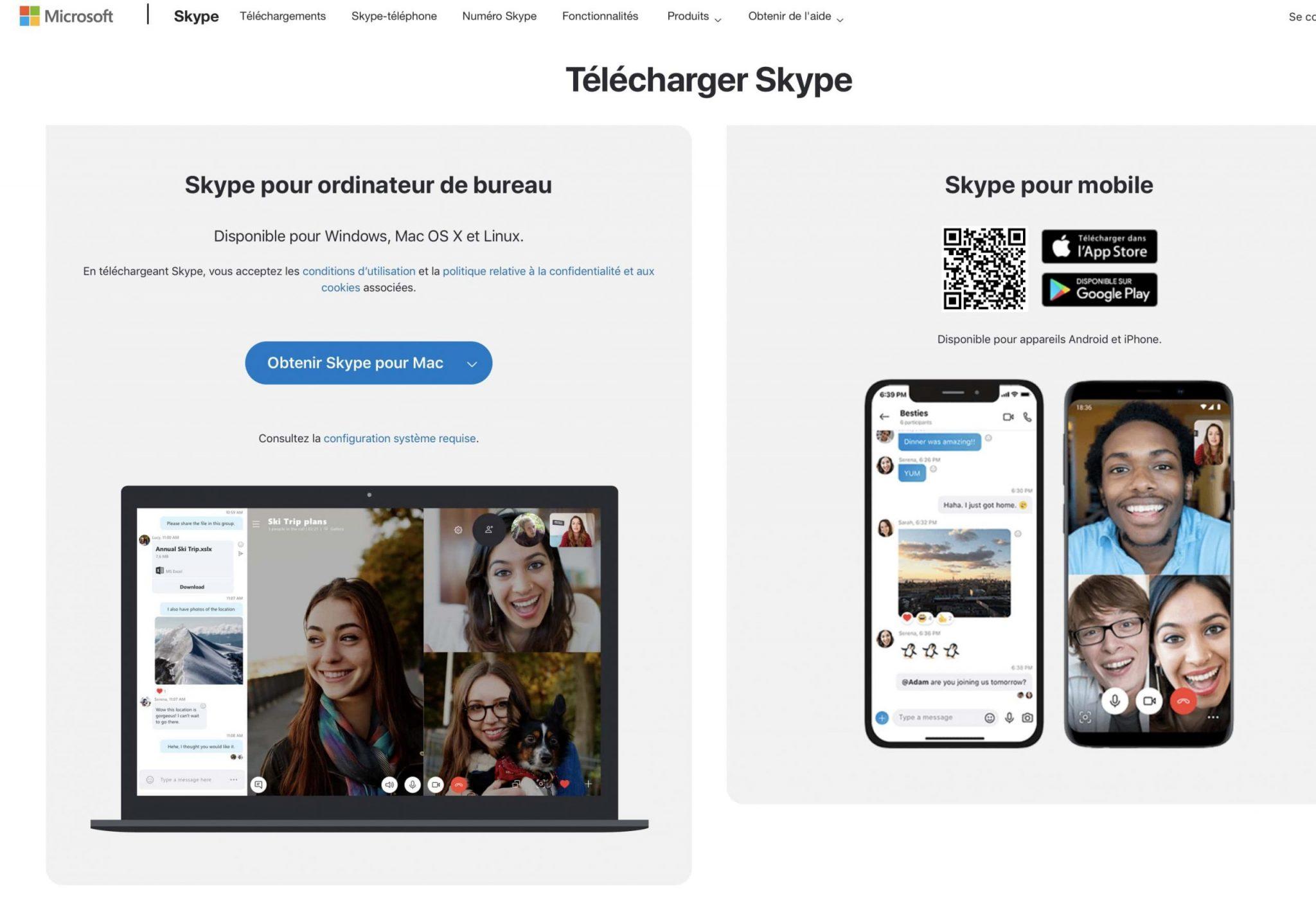Skype pour Mac
