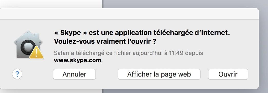telechargement Skype Mac